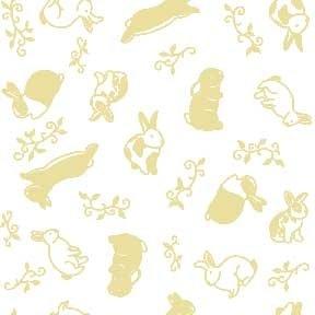 Land-Sea-Sky - Rabbits - Beige on White