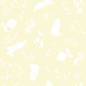 Land-Sea-Sky - Rabbits - White on Cream