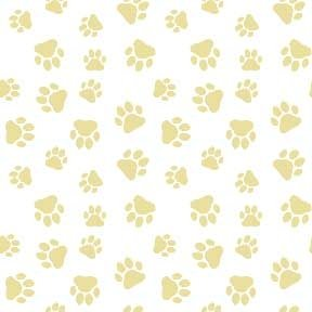 Land-Sea-Sky - Paw Prints - Beige on White