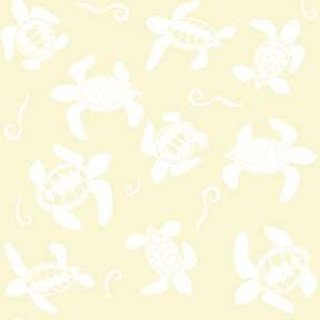 Land-Sea-Sky - Turtles - White on Cream