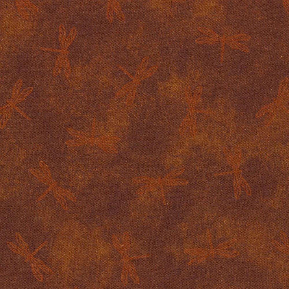 Land-Sea-Sky Tonals - Dragonflies - Rust (Remnant: 1-7/8 yds)