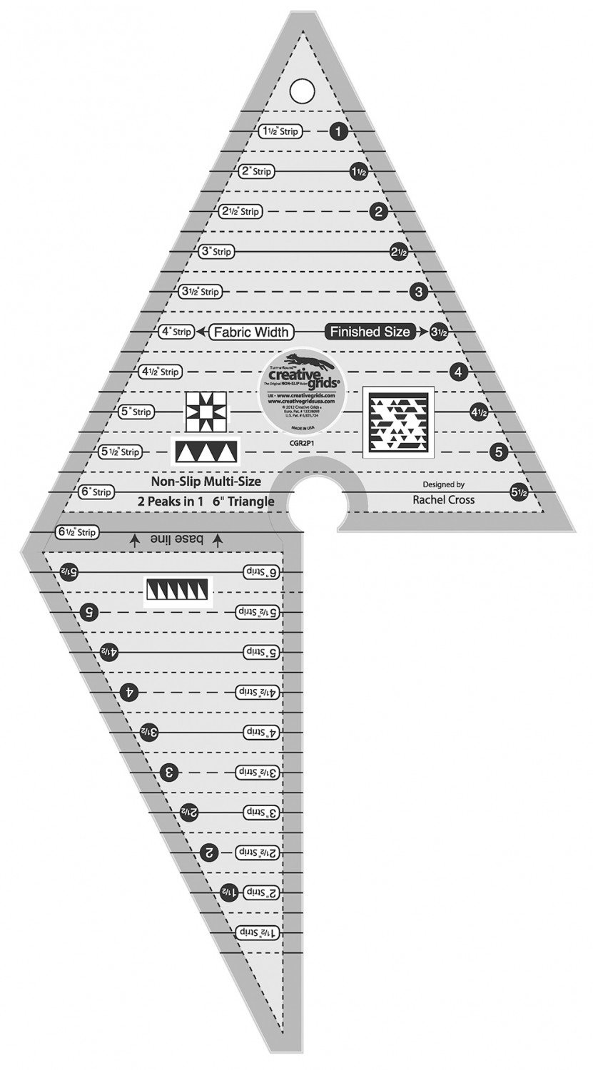 Creative Grids 2 Peaks in 1 Triangle Ruler