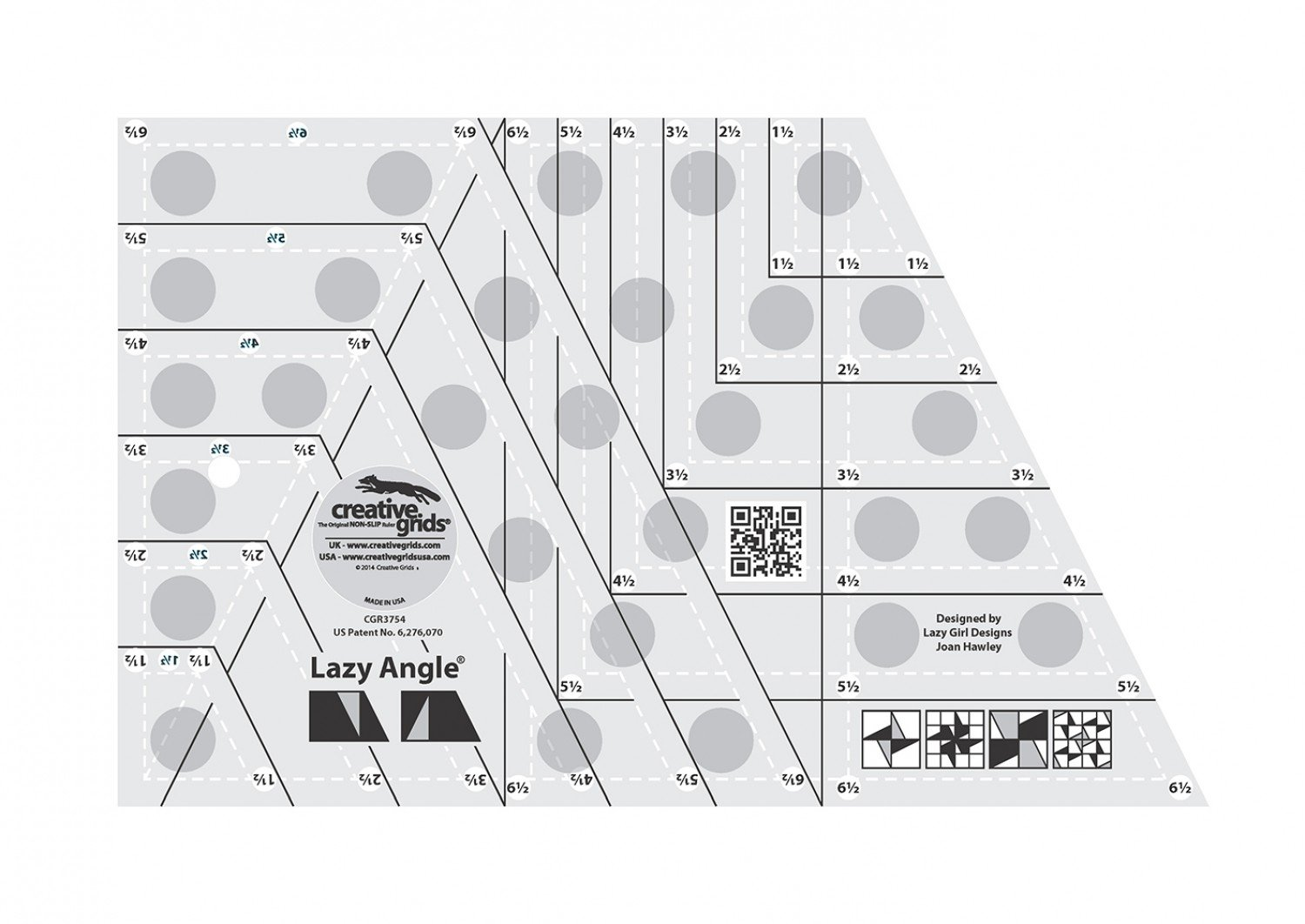Creative Grids Lazy Angle Quilt Ruler