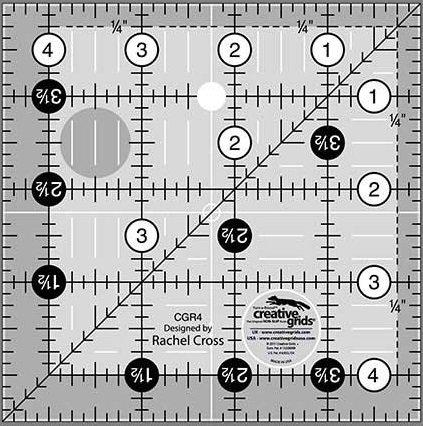 Creative Grids 4.5 Square Ruler