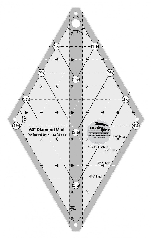 Creative Grids 60 Degree Mini Diamond Ruler