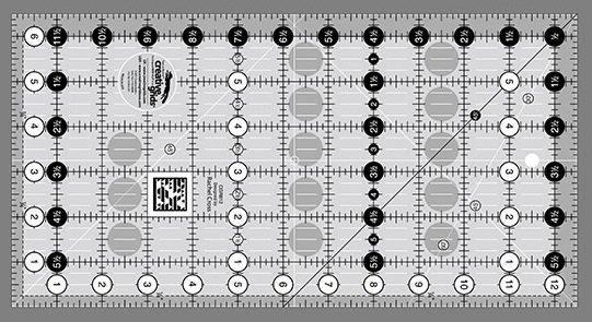 Creative Grids 6.5 x 12.5 Ruler