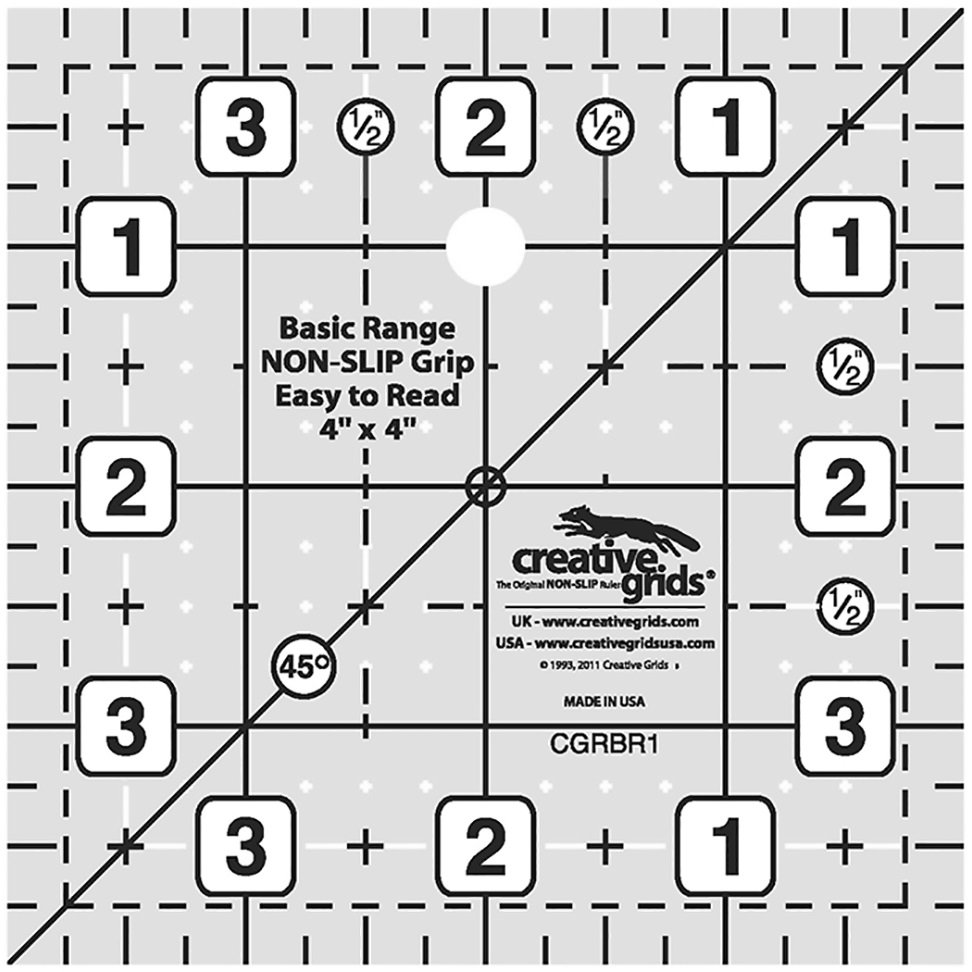 Creative Grids Basic Range - 4 Square Ruler