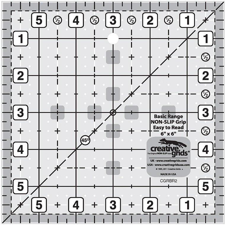 Creative Grids Basic Range - 6 Square Ruler