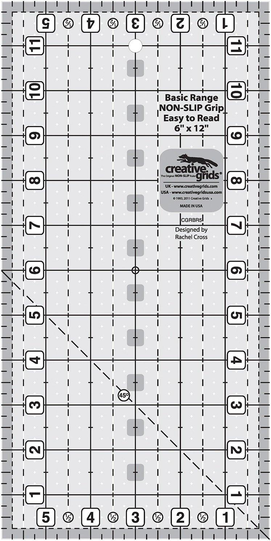Creative Grids Basic Range - 6 x 12 Rectangle Ruler