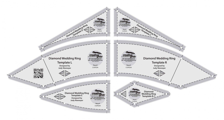 Creative Grids Diamond Wedding Ring Templates 6pcs