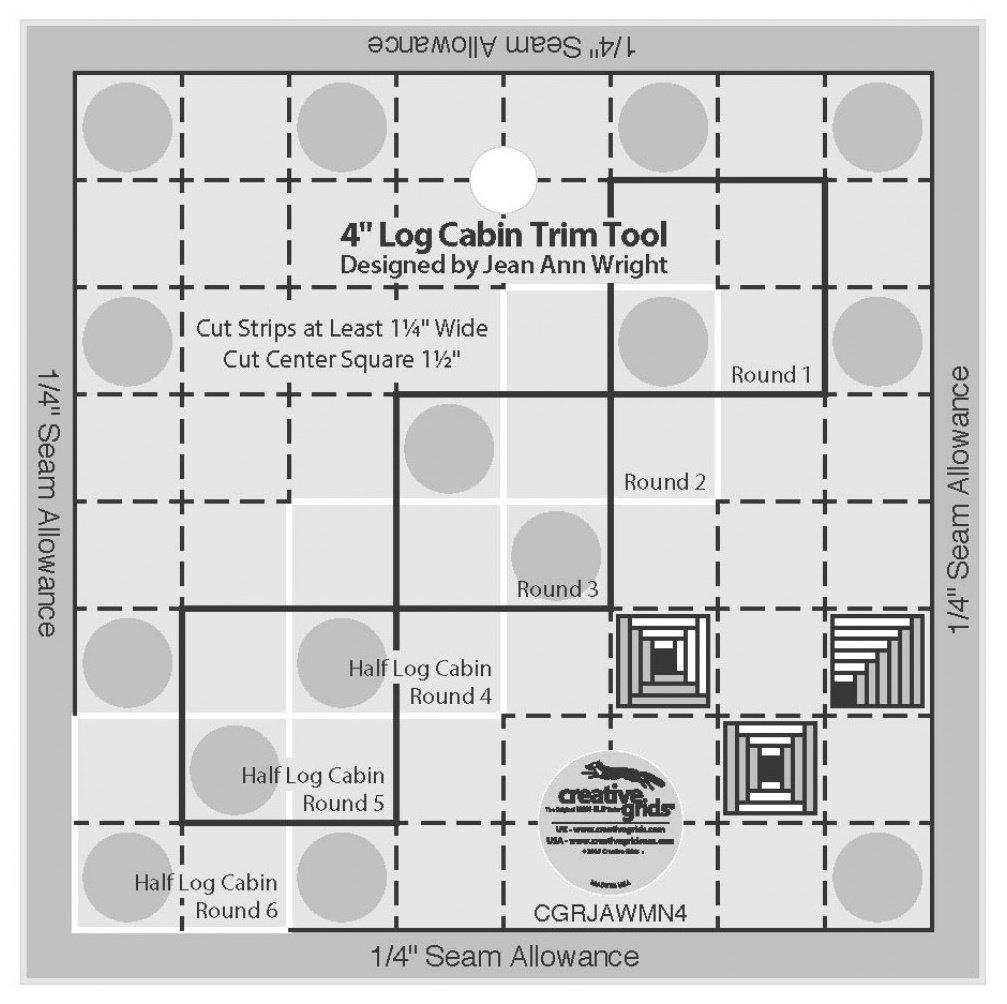 Creative Grids 4 Log Cabin Trim Tool