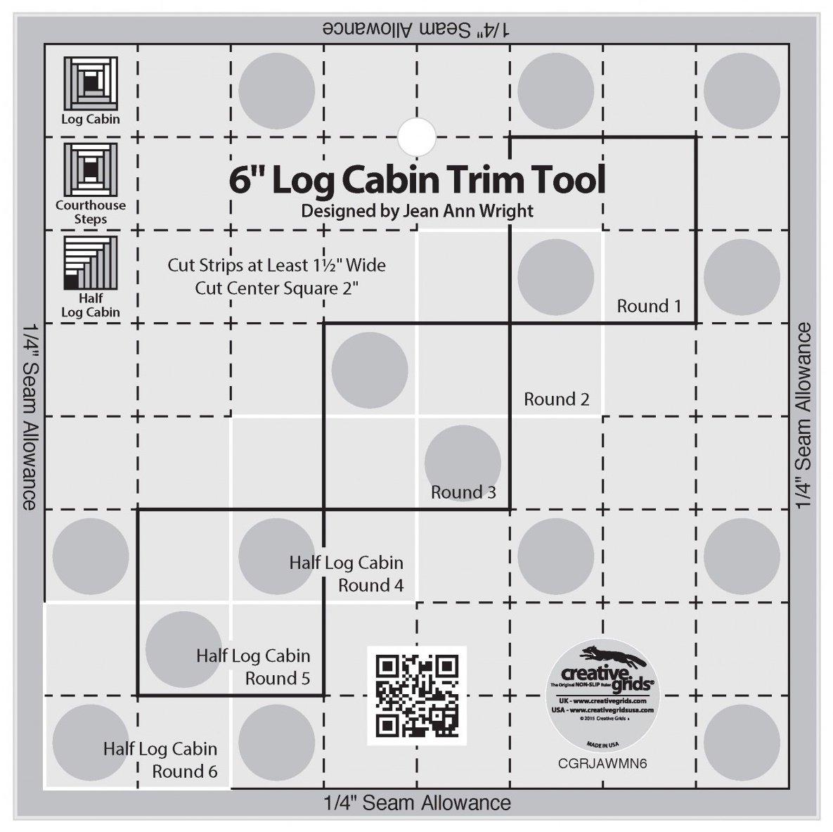 Creative Grids 6 Log Cabin Trim Tool