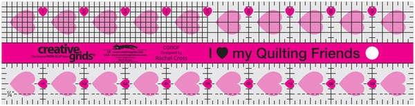 Creative Grids 2.5 x 10 Ruler - Quilting Friends