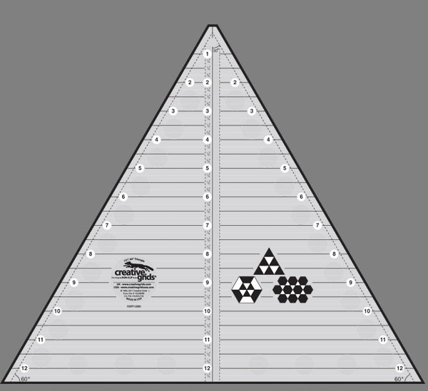 Creative Grids 60 Degree Triangle Ruler - 12.5
