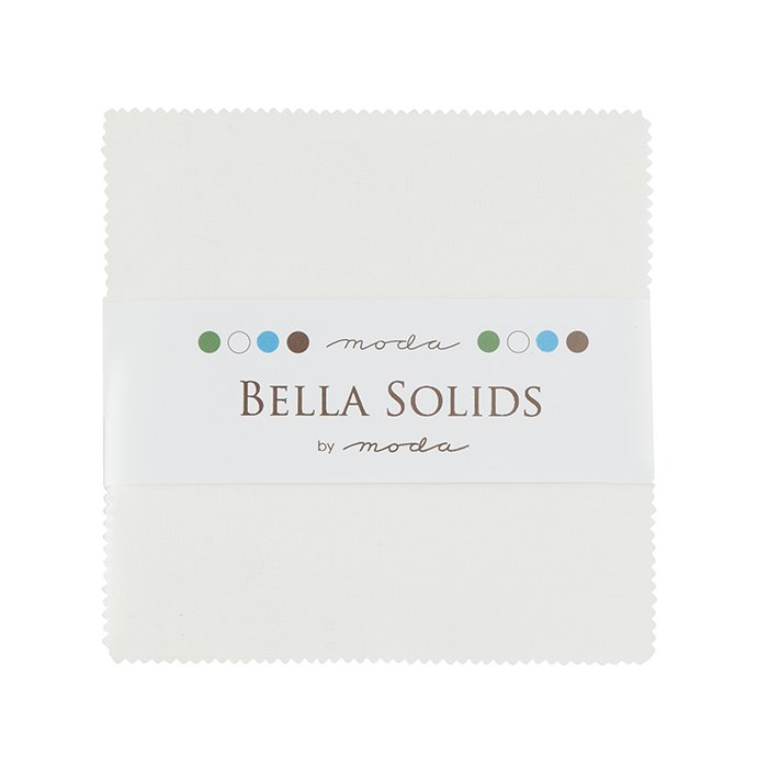 Bella Solids Charm Pack - White (42 pcs)