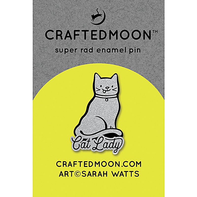 Craftedmoon Enamel Pin - Cat Lady