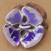Metal w/ Enamel Concave Burst Flower Button - Lavender/Purple