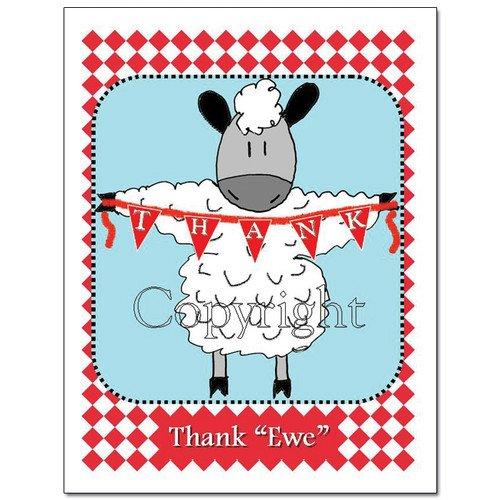 Knit Card Series - Thank Ewe