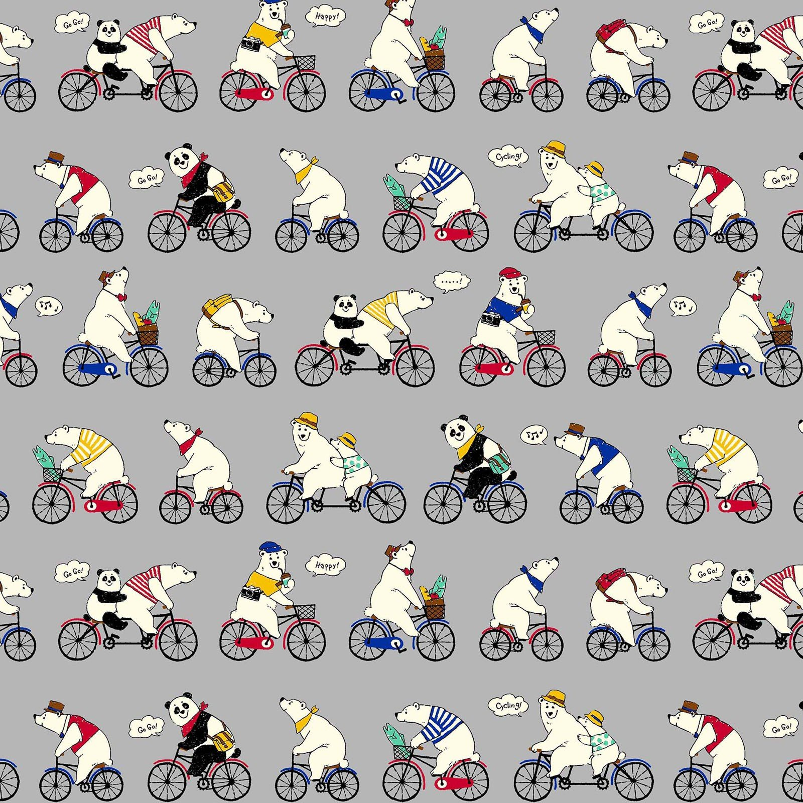Pretty Animals - Cycling Bears - Grey