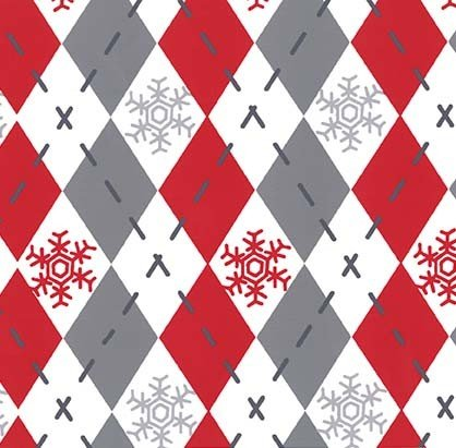 Woodland Winter - Argyle Sweater - Santa