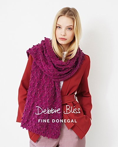 Fine Donegal - Bobble & Lace Scarf