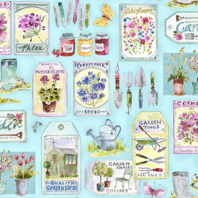 In the Garden - Gardening Essentials - Blue