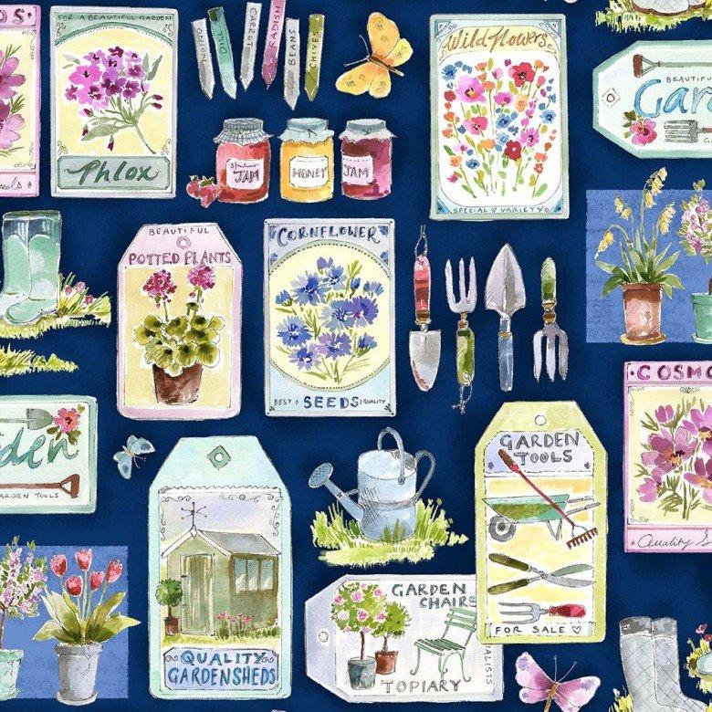 In the Garden - Gardening Essentials - Navy