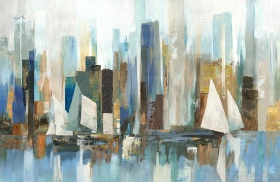 Harbor Reflections - Panel