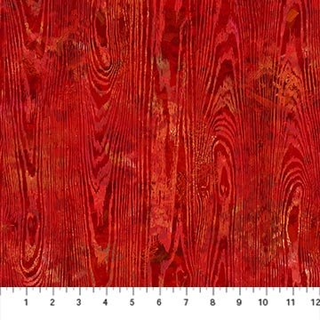 September Morning - Wood Texture - Red