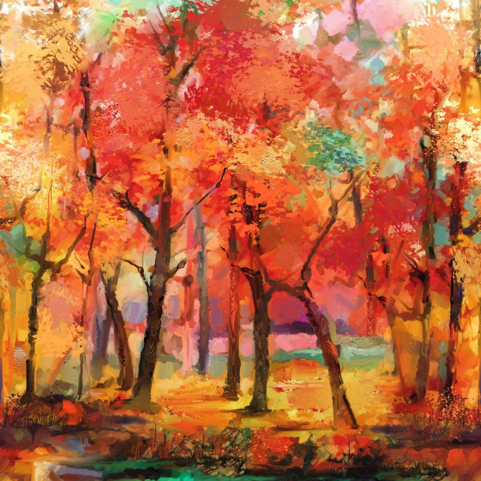 September Morning - Trees Running Yardage