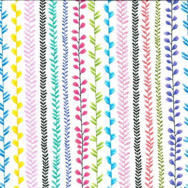 Les Jardins - Vine Stripe - White