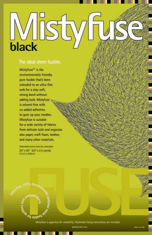 Misty Fuse Black - 20 x 90
