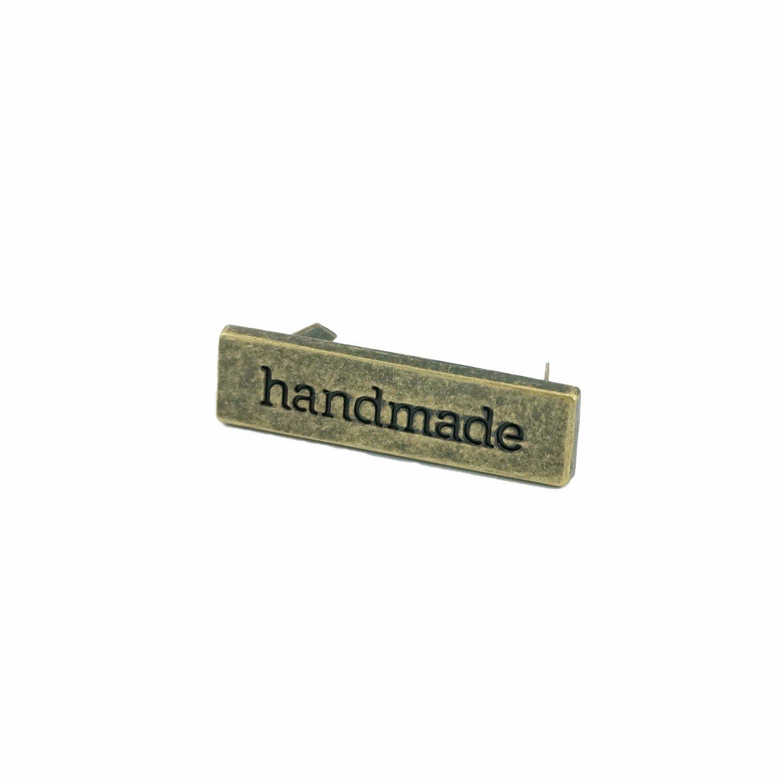 Handmade Metal Bag Label
