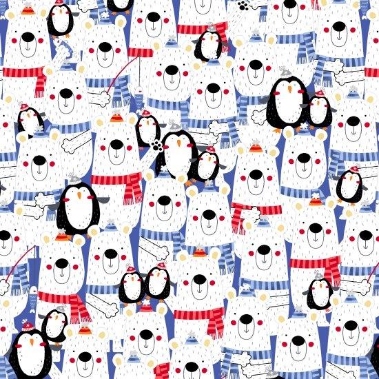 Polar Pals Flannel - Stacked Polar Pals