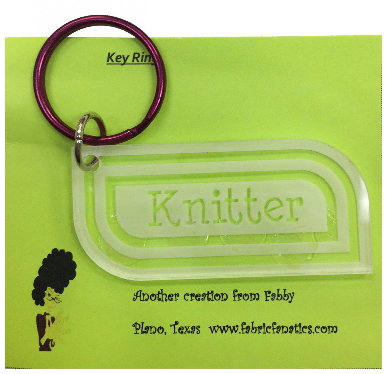 Acrylic Keyring - Knitter
