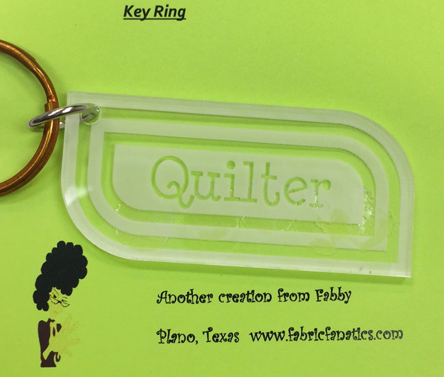 Acrylic Keyring - Quilter