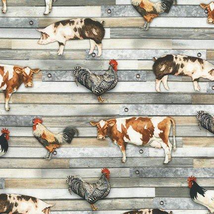 Farmhouse - Animals on Metal