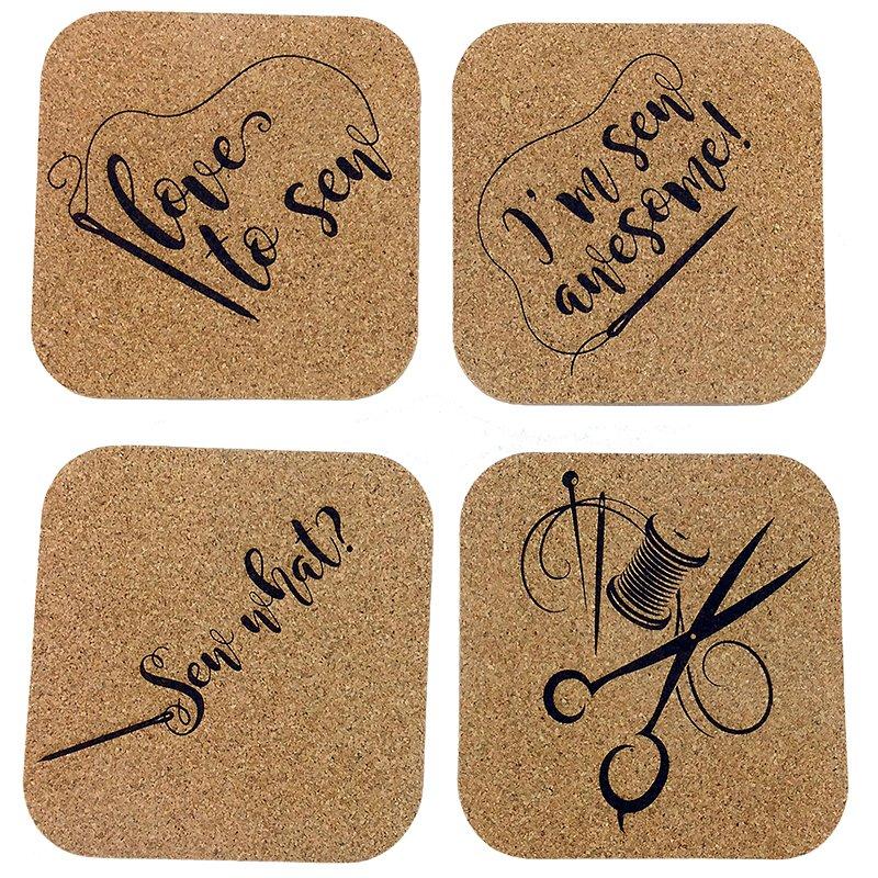 Cork Coasters - Sew Needle