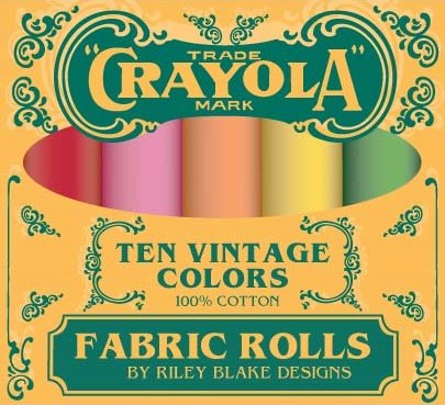 Confetti Cottons - Vintage Crayola Fat Quarter Box
