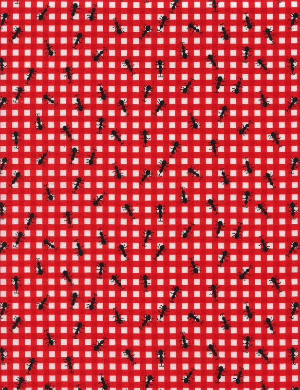 Ants on Gingham - Red