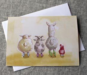 Greeting Card - Animals in Legwarmers
