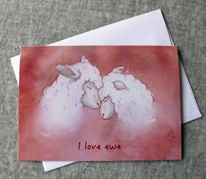 Greeting Card - I Love Ewe