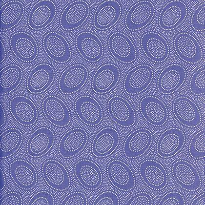 Aboriginal Dot - Iris (Remnant: 2 yds)