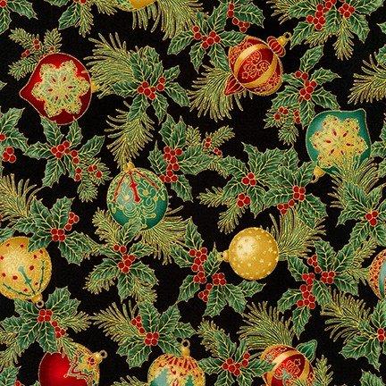 Holiday Flourish 12 - Ornaments - Black