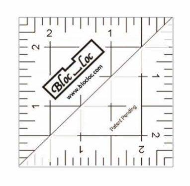 Bloc Loc Half Square Triangle Ruler - 2.5