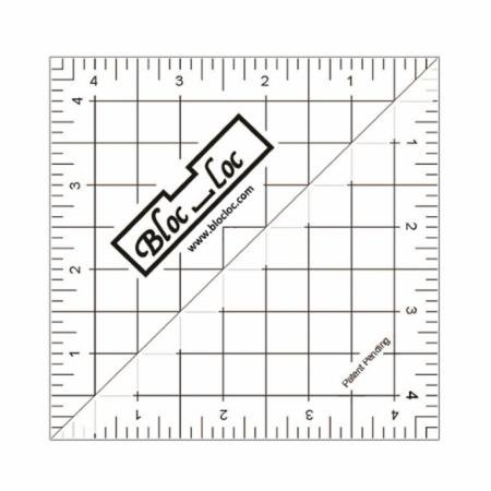 Bloc Loc Half Square Triangle Ruler - 4.5