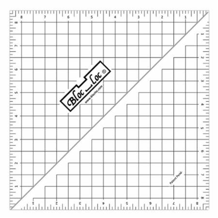 Bloc Loc Half Square Triangle Ruler - 8.5
