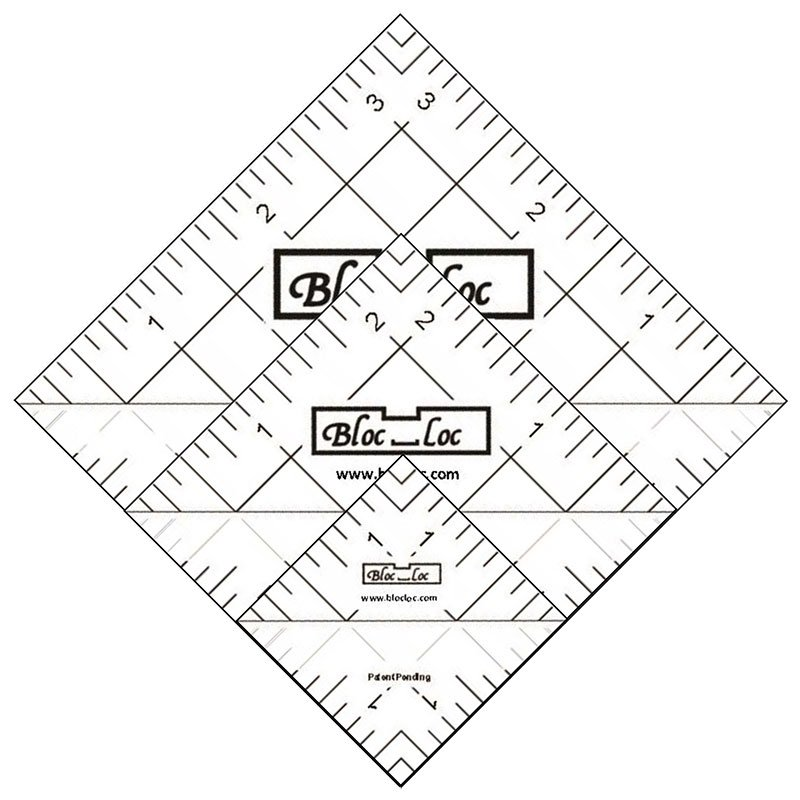 Bloc Loc Half Square Triangle Ruler Set 4