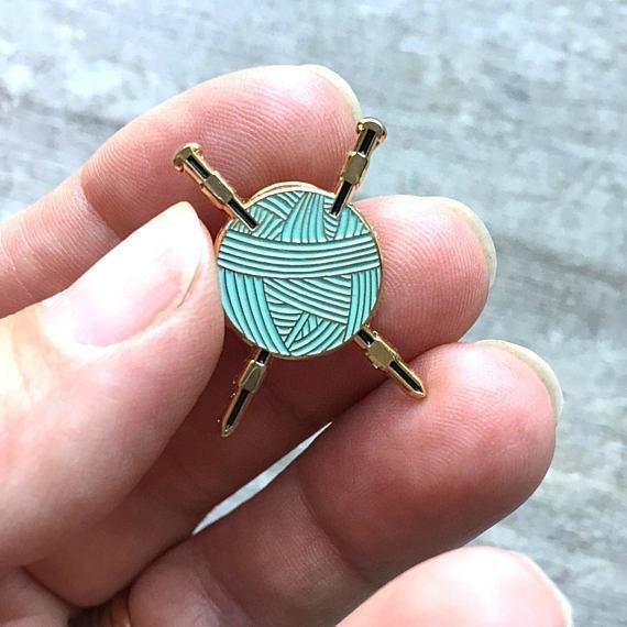 Small Batch Design Enamel Pin - Knitters Flair