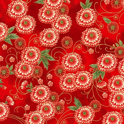 Imperial Collection 15 - Medium Flowers - Red